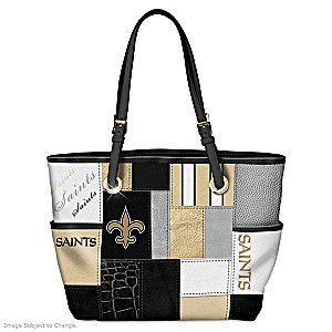 Saints For The Love Of The Game Tote Bag With Team Logos