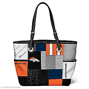 Broncos For The Love Of The Game Tote Bag With Team Logos