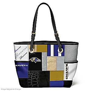 Ravens For The Love Of The Game Tote Bag With Team Logos