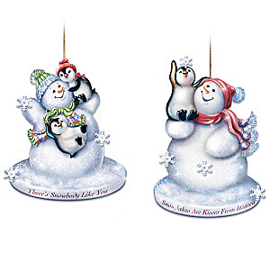 """Dona Gelsinger """"Warmth Of Christmas"""" Lighted Glass Ornaments"""