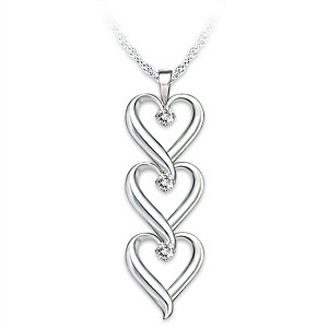 """Granddaughter, I Love You"" Infinity Heart Diamond Pendant"