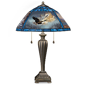 Ted Blaylock Louis Comfort Tiffany-Style Eagle Lamp