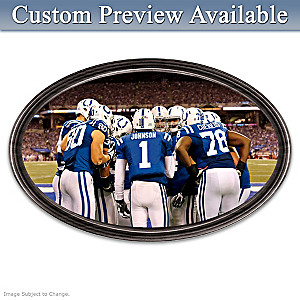 Colts Framed Wall Decor With Your Name On QB's Jersey