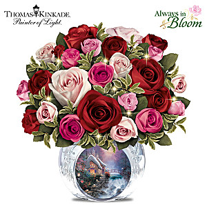 Thomas Kinkade Today, Tomorrow, Always Lighted Centerpiece