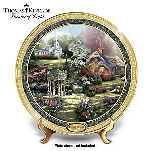 "Thomas Kinkade ""Faith, Hope And Love"" Porcelain Plate"