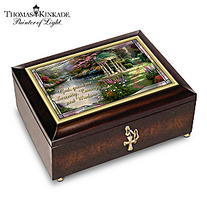 """Thomas Kinkade Serenity Prayer"" Illuminated Music Box"