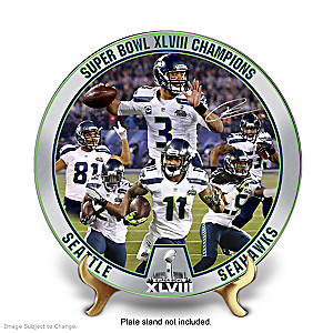 Seattle Seahawks Super Bowl XLVIII Champs Collector Plate