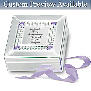 My Daughter, I Love You Always Engraved Birthstone Music Box