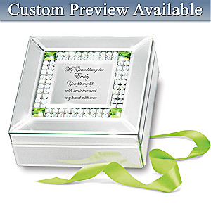 Granddaughter Fills My Heart Engraved Birthstone Music Box