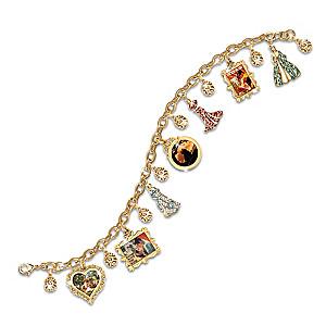 Gone With The Wind Charm Bracelet With Swarovski Crystals