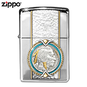 "Indian Head Nickel ""American West"" Zippo Windproof Lighter"