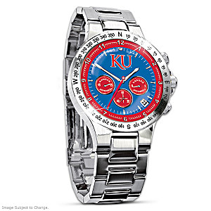 Kansas Jayhawks Commemorative Chronograph Watch