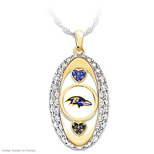 """For The Love Of The Game"" Baltimore Ravens Pendant"