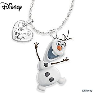 """Disney FROZEN Olaf """"Frozen In Motion"""" Diamond Pendant"""