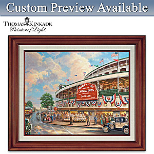 Thomas Kinkade Wrigley Field Personalized Canvas Print