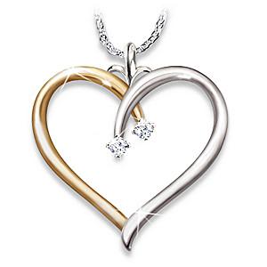 """My Darling Granddaughter"" Diamond  Pendant Necklace"