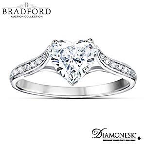 """Love At First Sight"" Diamonesk Simulated Diamond Ring"