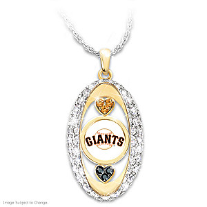 """""""For The Love Of The Game"""" Giants Crystal Pendant"""