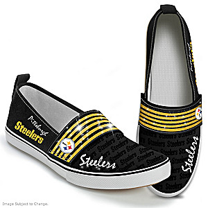 NFL-Licensed Pittsburgh Steelers Women's Slip-On Shoes