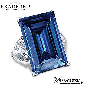 """The American Dream"" Diamonesk Simulated Blue Sapphire Ring"