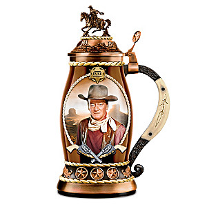 "John Wayne ""Straight Shooter"" Porcelain Stein"