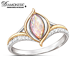 """World On Fire"" Created Opal Ring"