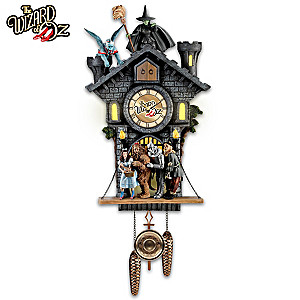 WIZARD OF OZ Wall Clock With Lights, Motion And Sound