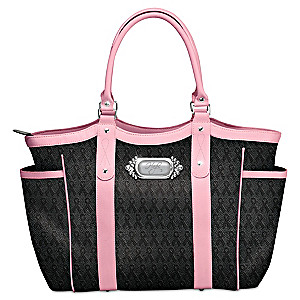 """Hope Carries On"" Breast Cancer Awareness Tote Bag"