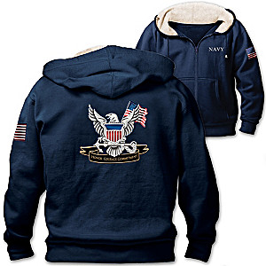 U.S. Navy Honor, Courage And Commitment Mens Blue Hoodie