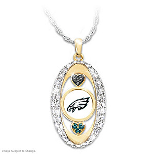 """For The Love Of The Game"" Philadelphia Eagles Pendant"