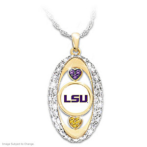"""For The Love Of The Game"" LSU Tigers Pendant"