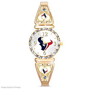 """""""My Texans"""" Ultimate Fan Women's Wristwatch"""