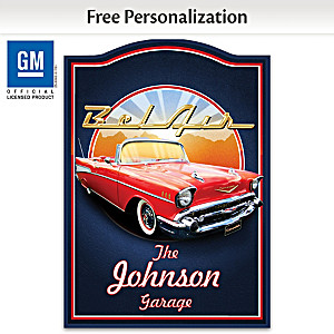 1957 Chevrolet Bel Air Welcome Sign Personalized With Name