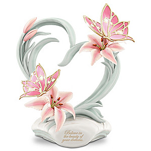 """Beauty Of Your Dreams"" Musical Porcelain Butterfly Figurine"