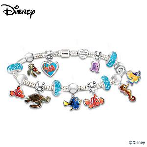 "Disney•Pixar FINDING NEMO ""Just Keep Swimming"" Bracelet"