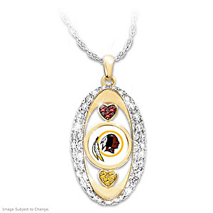 """""""For The Love Of The Game"""" Washington Redskins Pendant"""