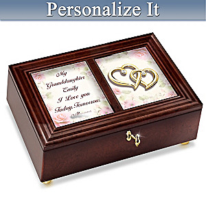 Granddaughter, I Love You Music Box With Her Name on Lid