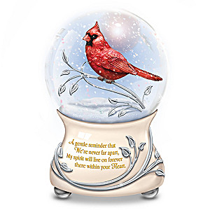 """Messenger From Heaven"" Memorial Cardinal Glitter Globe"
