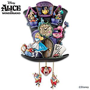 "Disney Alice In Wonderland ""Mad Hatter"" Wall Clock"