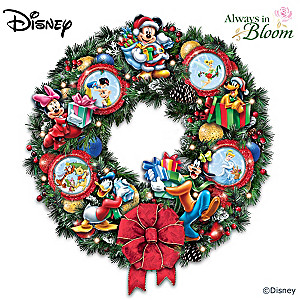 """It's A Magical Disney Christmas"" Illuminated Wreath"