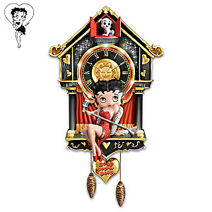 Betty Boop Wall Clock With Light And Sound
