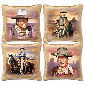 """John Wayne """"Western Sunset"""" Four-Pillow Set"""