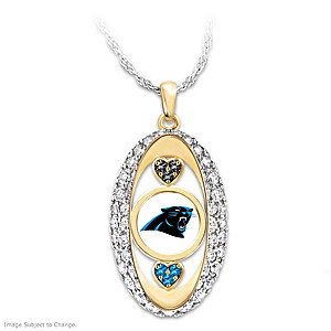 for the love of the game carolina panthers pendant necklace. Black Bedroom Furniture Sets. Home Design Ideas