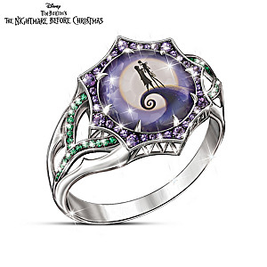 the nightmare before christmas magic at midnight ring - Nightmare Before Christmas Wedding Rings