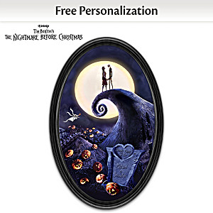 """""""Jack And Sally"""" Personalized Glow-In-The-Dark Plate"""