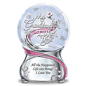 My Granddaughter, I Wish You Musical Glitter Globe