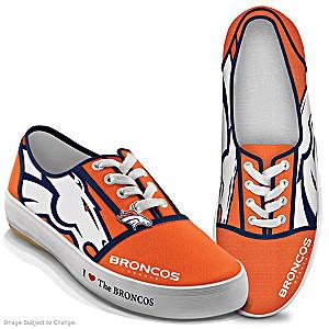 NFL-Licensed Denver Broncos Women's Canvas Sneakers