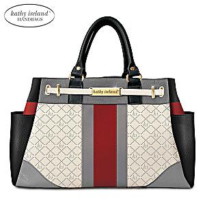 kathy ireland Signature Beauty Handbag With Engraved Plaque