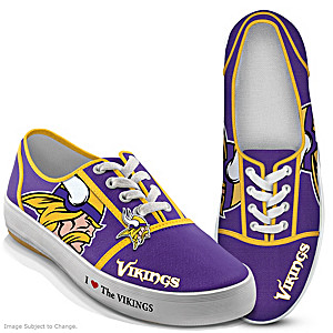 NFL-Licensed Minnesota Vikings Women's Canvas Sneakers