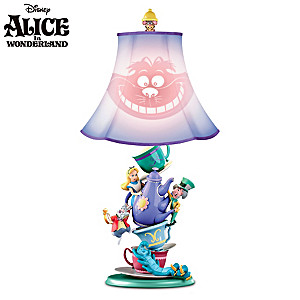 Disney Alice In Wonderland Mad Hatters Tea Party Table Lamp